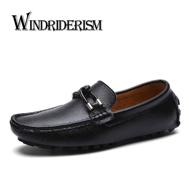 WINDRIDERISM Nueva Primavera 2017 Hombres de La Moda Mocasines Zapatos de Conducción de Cuero Partido De La Vaca Hombres Zapatos Mocasines Casuales Zapatos de Hombre