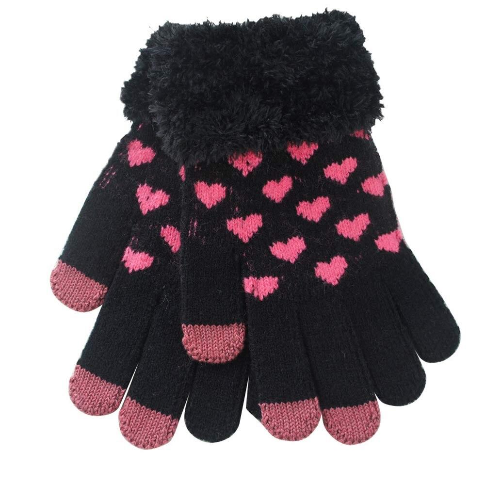 Beautiful cheap Heart Shape Warm Gloves winter women gloves luvas femininas para o inverno eldivendrop shopping