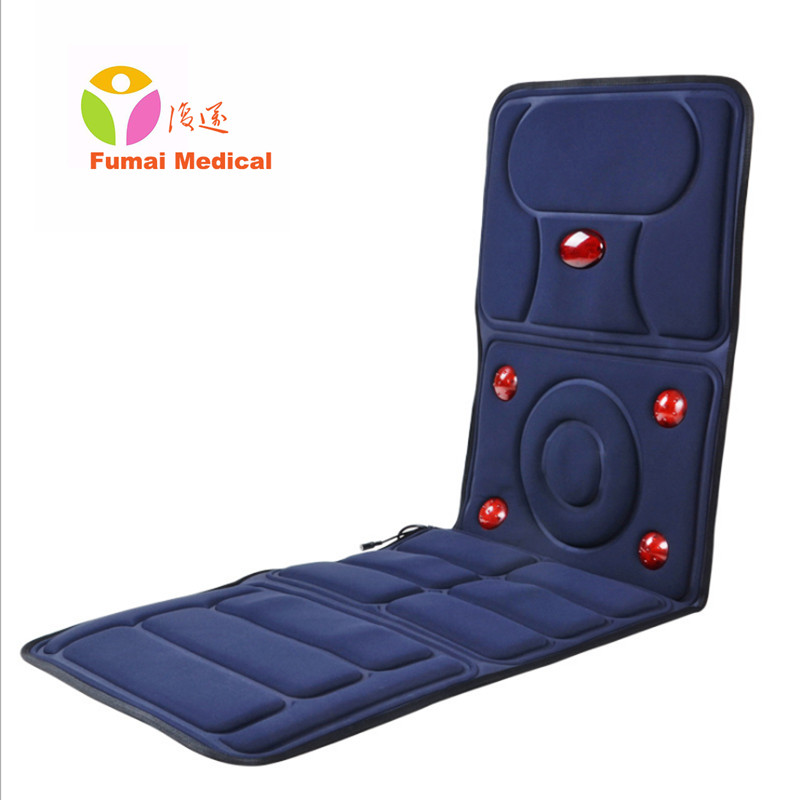 Far Infrared Multifunctional massage mattress neck waist full-body vibration cushion head back waist neck massager massage pad electric full body multifunctional massage mattress vibration massage device massage cushion infrared full body massager