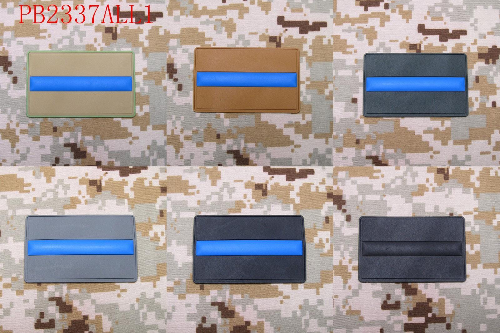 Жұқа Көк сызық полициясы SWAT 3D ПВХ патч