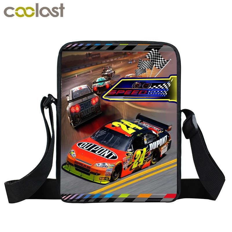 Cool Racing Car font b cross b font font b Bag b font Kids Mini Messenger
