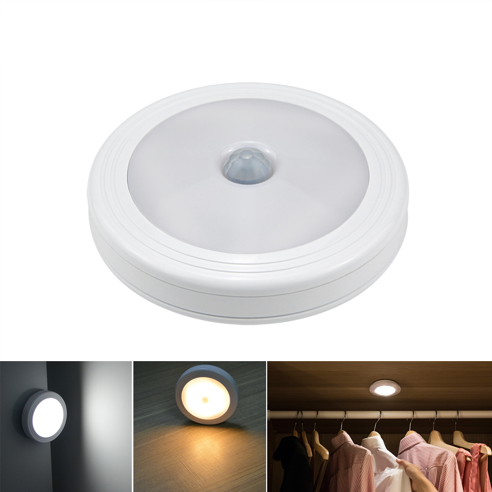 LED Infrared PIR Motion Sensor Novelty Lighting Sensitive Wall Ceiling Night Light Smart Lamp Hallway Pathway Stair Lighting