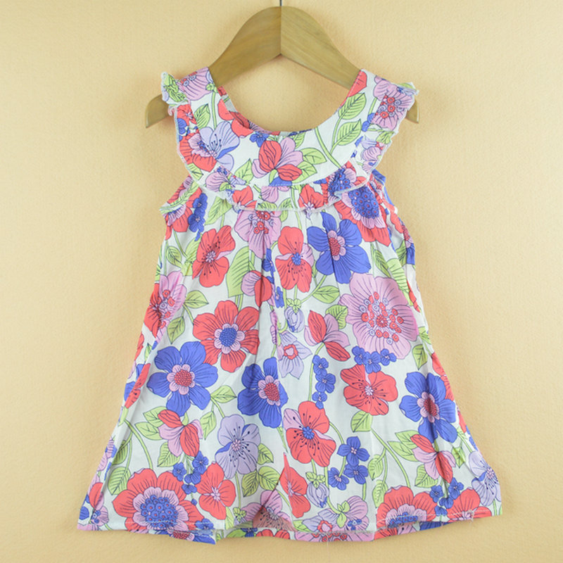 Baby Clothing Designer | Girls Dress New Designer Cotton 2015 Summer Flower Child Clothing