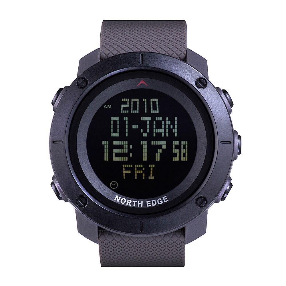 Digital Watch Timer North-Edge Waterproof Rubber-Strap Swimming Running Sports Men's
