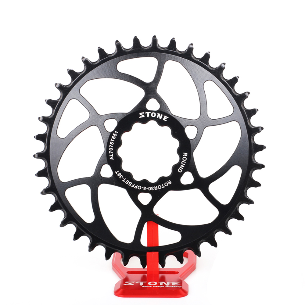Stone MTB Bike Circle Chainring 5mm Offset Direct Mount For Rotor Rex1 Rex2 30mm Axle Narrow