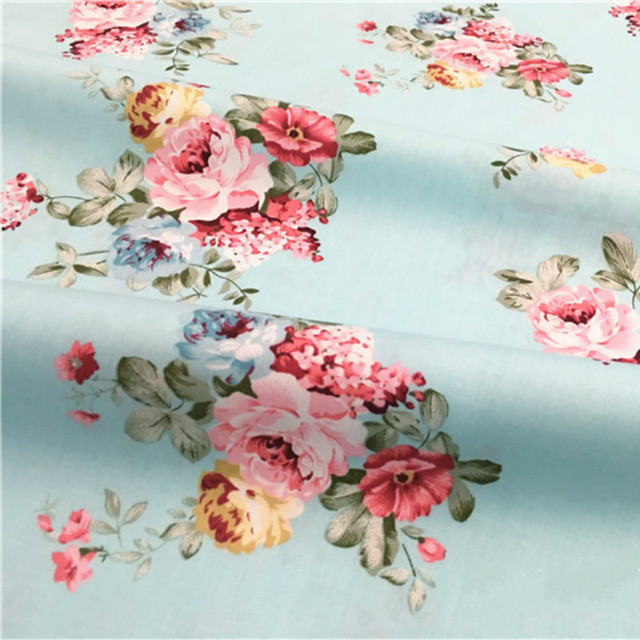 Buulqo 100% cotton twill  flower fabrics for DIY  Sewing textile tecido tissue patchwork bedding quilting 2