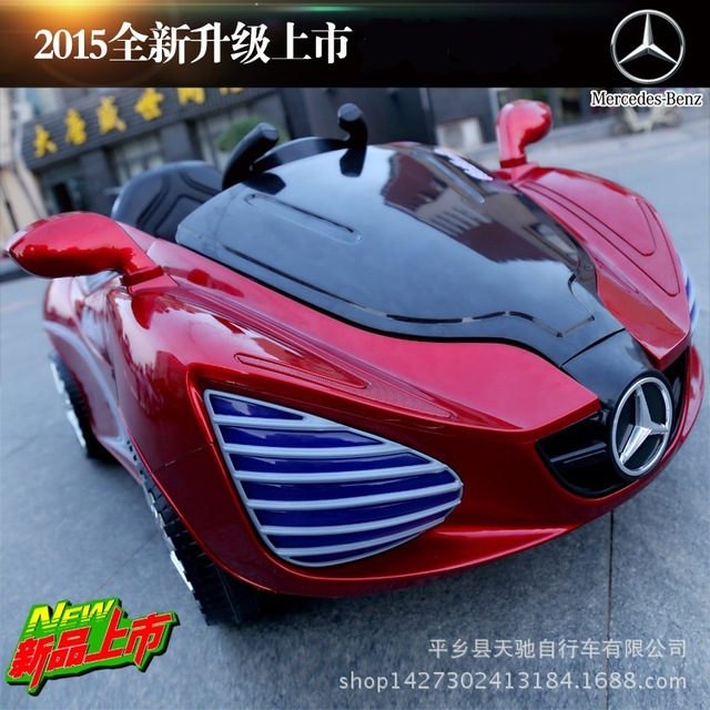 On behalf of children electric car Benz phantom with swing double drive four wheel suspension remote control toy car baby sittin