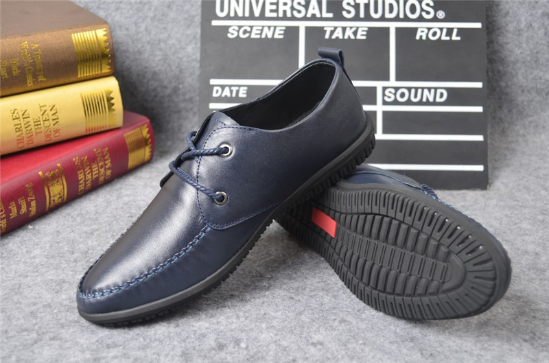 Men 's shoes casual leather autumn tide breathable belt wild leather shoes SUB3126