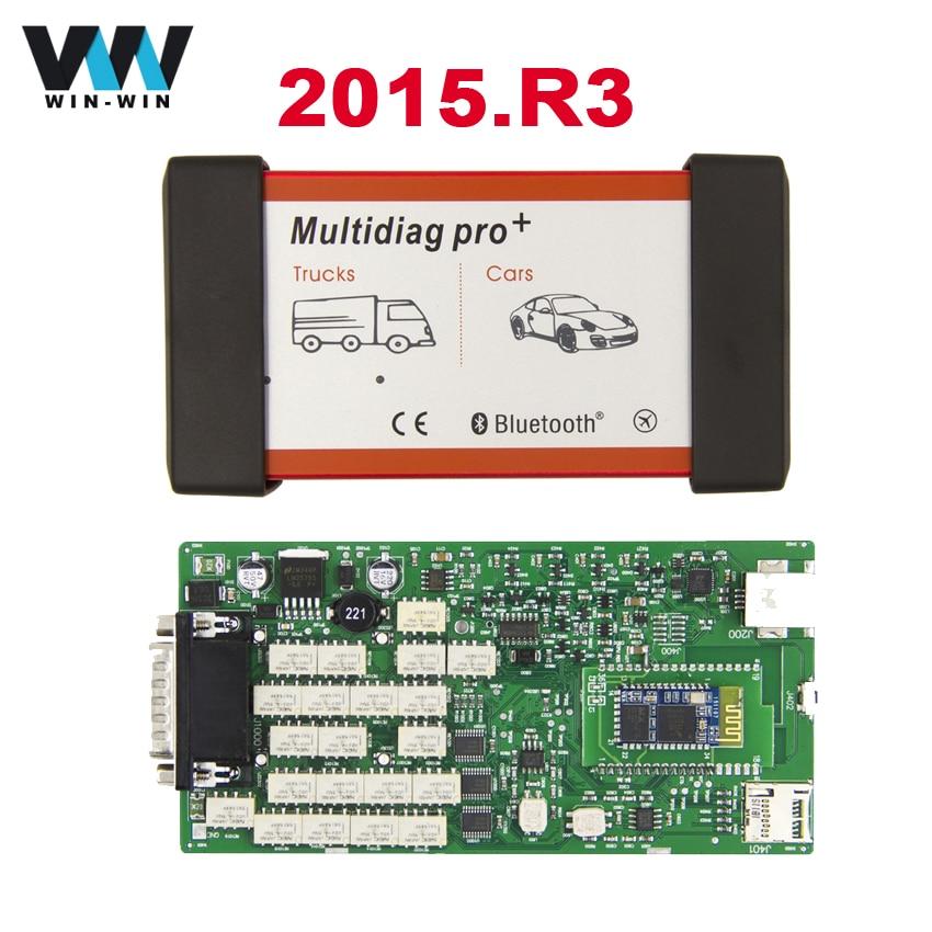 Prix pour 2015. R3 TCS CDP Pro Multidiag Bluetooth 2014.02/2015.03 Avec Keygen Unique Vert PCB + Nouveau NEC Relais voitures/Camions Outil De Diagnostic