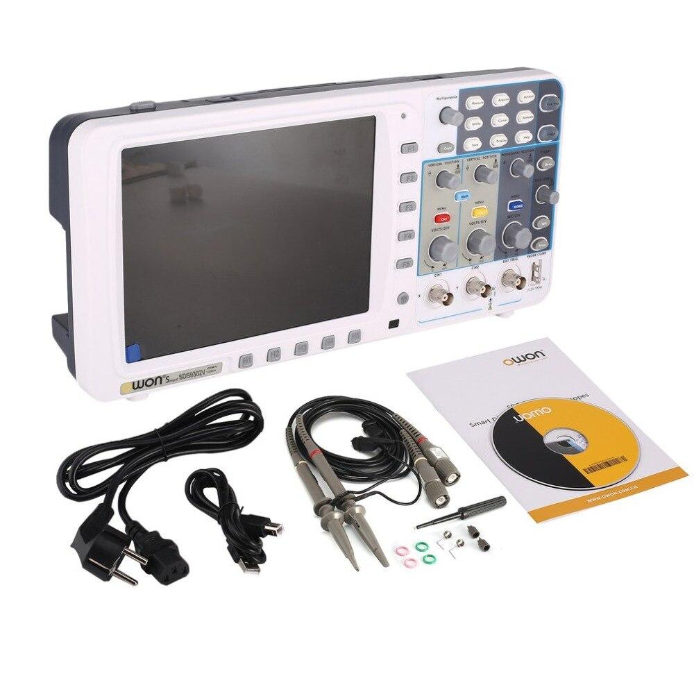 OWON SDS9302V Double canal mémoire profonde LCD affichage numérique stockage Oscilloscope Scope Scope mètre 300 MHz 3.2GSa/s
