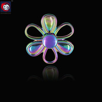 BD,Fingertip Gyro Decompression,Fidget spinner,Hand Spinner metal,Six leaves EDC Tool,Anxiety Stress Relief,parts,Toys27