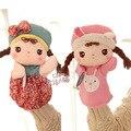 Toy Story 1 unid 25 cm de dibujos animados metoo Angela chica muñeca de la mano ventriloquia felpa pacificar educativos para bebés niños infante don