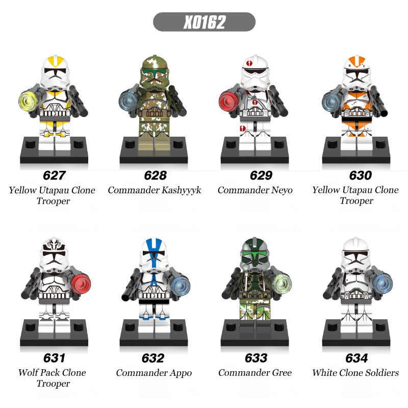 Singolo Star Wars Utapau Clone Trooper Commander Kashyyyk Neyo Appo Gree Wolf pack Blocchi di Costruzione Del Giocattolo scherza il regalo Compatibile X0162