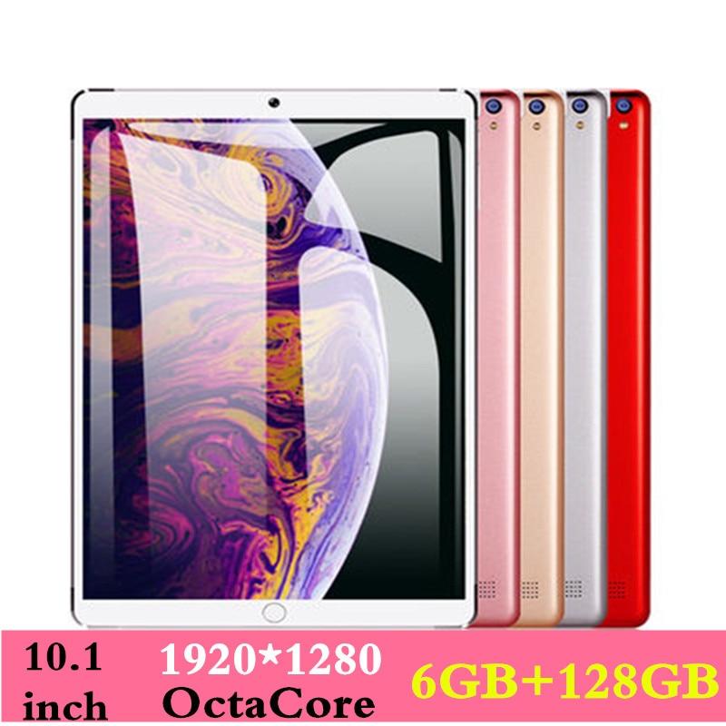 10.1 pouces tablette 3G 4GLTE téléphone Android 8.0 Octa Core Ram 6 GO ROM 128 GB Caméra 8MP Wifi 10 pouces Enfants tablette Bluetooth FM GPS WIFI