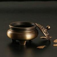 Dropship copper burner Incense burner Buddhist supplies home decor coil incensory decoration