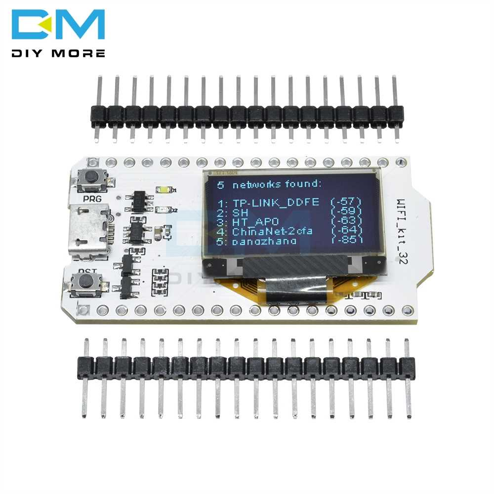 "CP2102 ESP32 0.96 Inch 0.96 ""Blauw Oled Digitale Display Bluetooth Wifi Draadloze 32 Module Internet Development Board Voor Arduino"