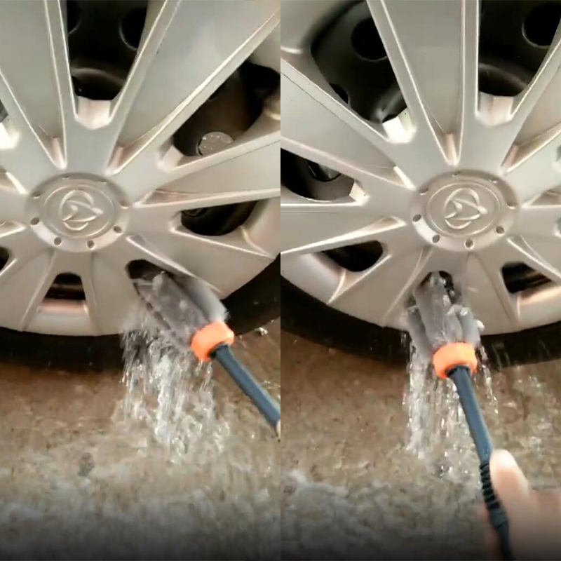 Washer Cleaning-Brush Tire-Rim-Vehicle Pressure-Wheel Plastic-Handle Car-Washing Motorcycle title=