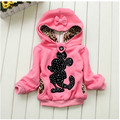 The Children's Pure Cotton Hooded Jacket, The girl's Cartoon sports Coat