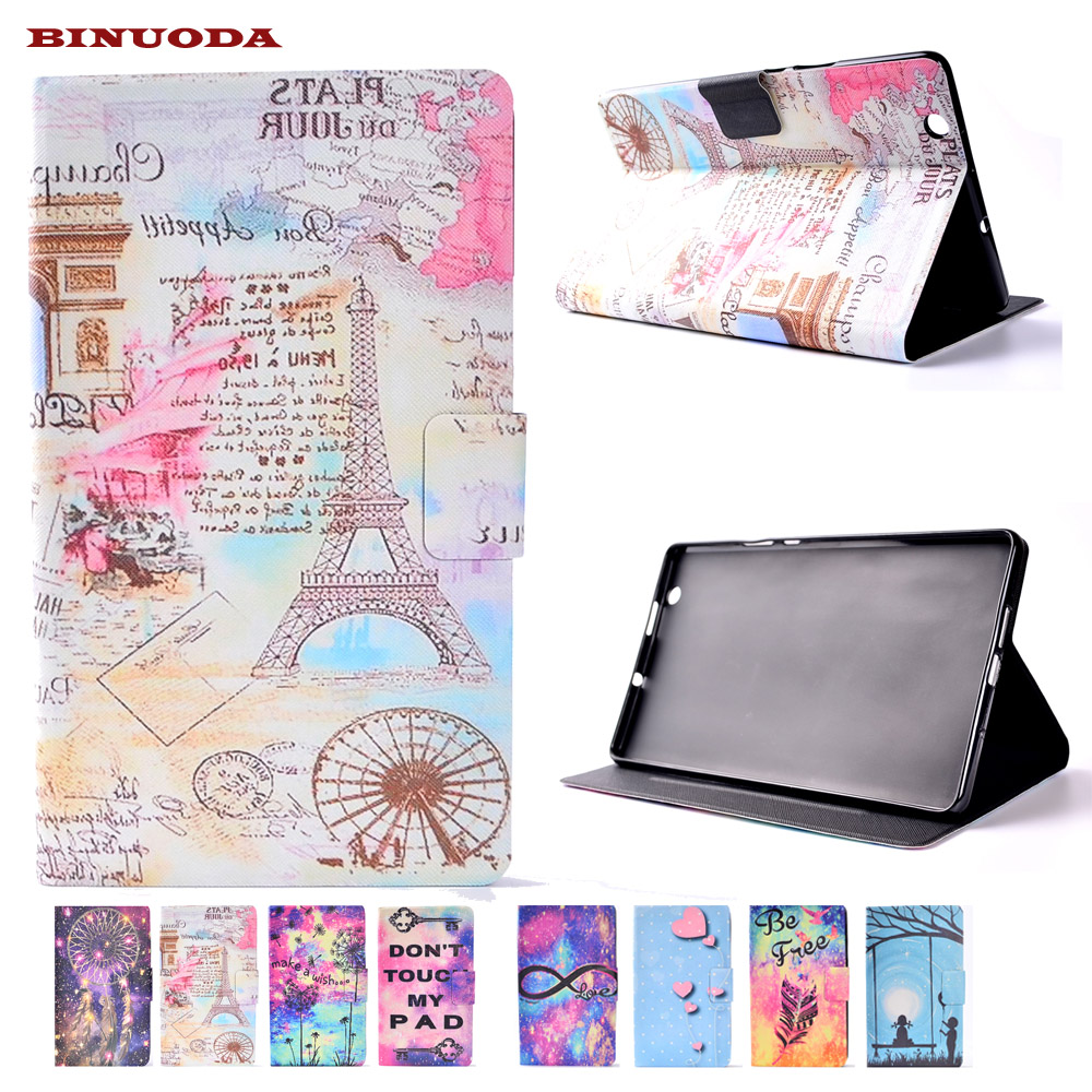 Ultra Slim Colorful Print PU Leather Stand Cover Case for Huawei MediaPad M3 8.4 inch Tablet Soft TPU Skin Shell mediapad m3 lite 8 0 skin ultra slim cartoon stand pu leather case cover for huawei mediapad m3 lite 8 0 cpn w09 cpn al00 8