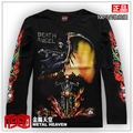 Men's clothing spring skull motorcycle male long-sleeve T-shirt lovers male t-shirt basic shirt