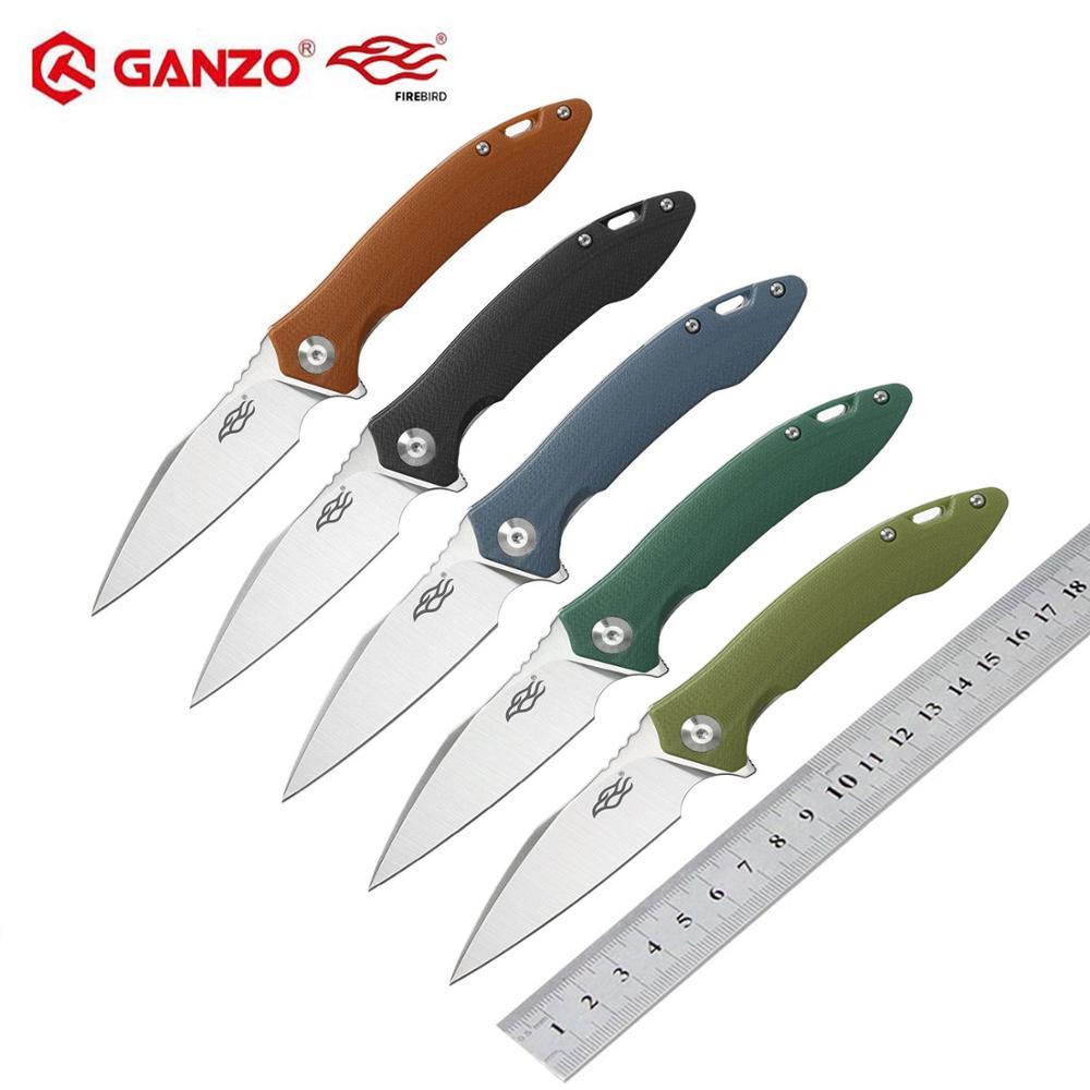 60HRC Ganzo Firebird FH51 folding knife D2 blade G10 Handle Folding knife Survival tool Pocket Knife