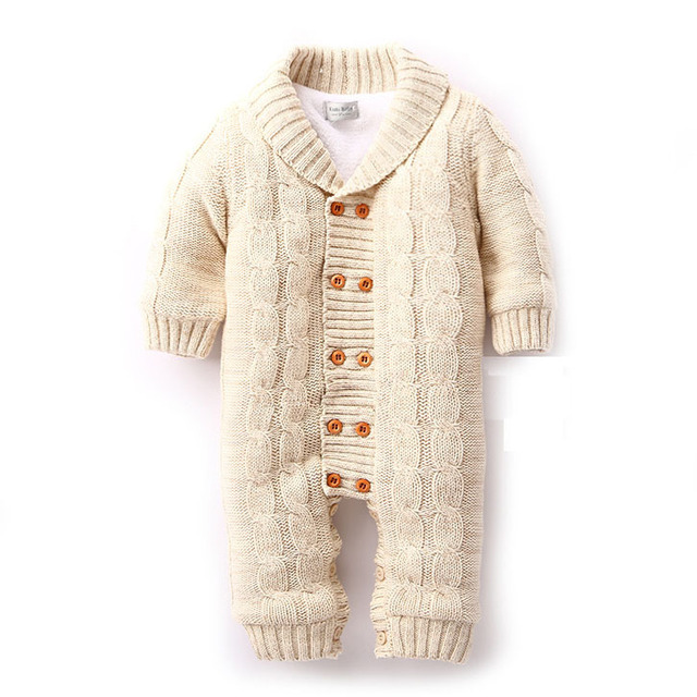 ff0e7ed188fe Thick Warm Infant Baby Rompers Winter Clothes Newborn Baby Boy Girl ...