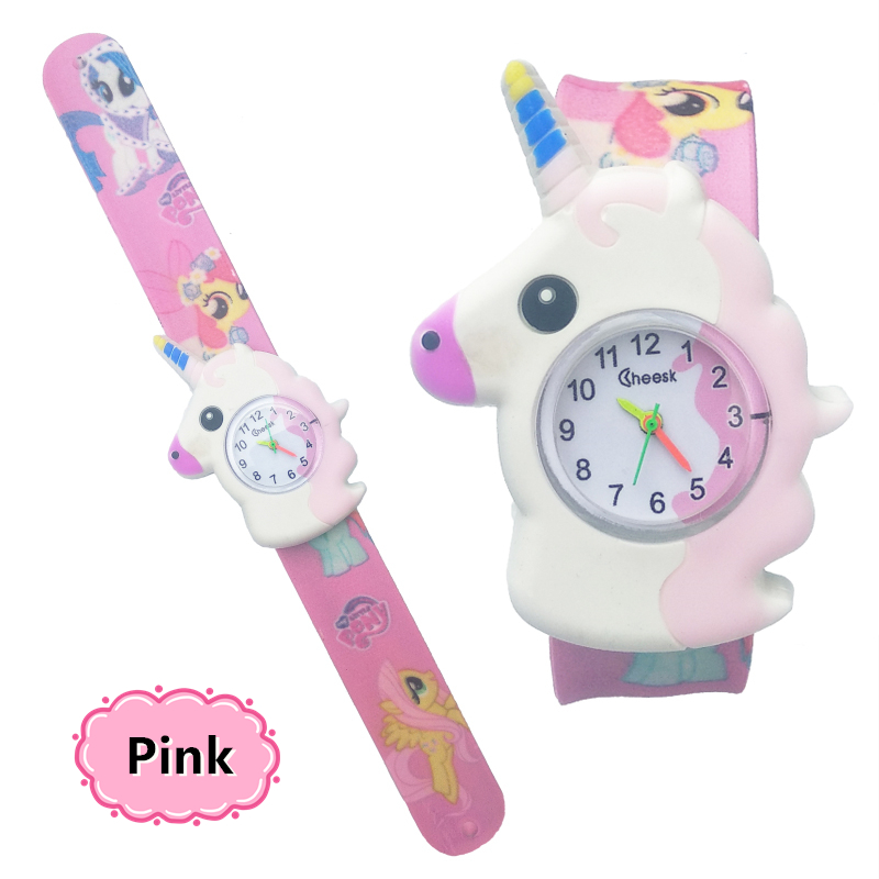 2020 New Horse Design Kids Cartoon Fashion Watches Quartz Childrens Jelly Boy Girl Students Wristwatch Relogio Kol Saati Clock