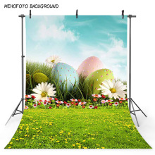 Celebration Easter Festival Photography Backdrops Easter Eggs Background for Photo Studio Spring Scenery Green Grass