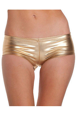 Women Ladies Shiny Gold Balck SilverSEXY WET LOOK Mini Short Stretchy Hot