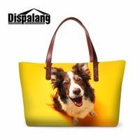 Dispalang promozione summer beach borsa pet dog stampe signore shopping borse a mano per le ragazze di viaggio tote shoulder borse donna