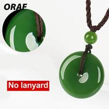 Romantic Elegant Imitation Jade Pendant Non Rope Necklace Jewelry Wedding Gemstone Lucky Charm(China)