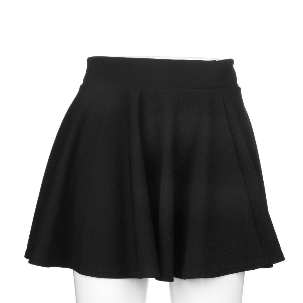 High Waist Pleated Skirt Black Mini Skirt Sexy Skirt For Girl Lady Korean Short Skater Women Clothing Bottoms