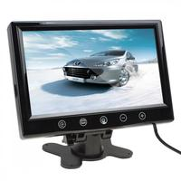 9 Inch 800x480 High Resolution Car Monitor 12V 6W TFT LCD Color Screen Auto Rearview Mirror Monitors With 2 Video Input