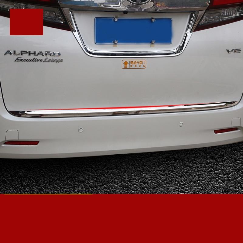 car-styling stainless steel car taildoor trim for toyota alphard Toyota Vellfire 2015 2016 2017 2018