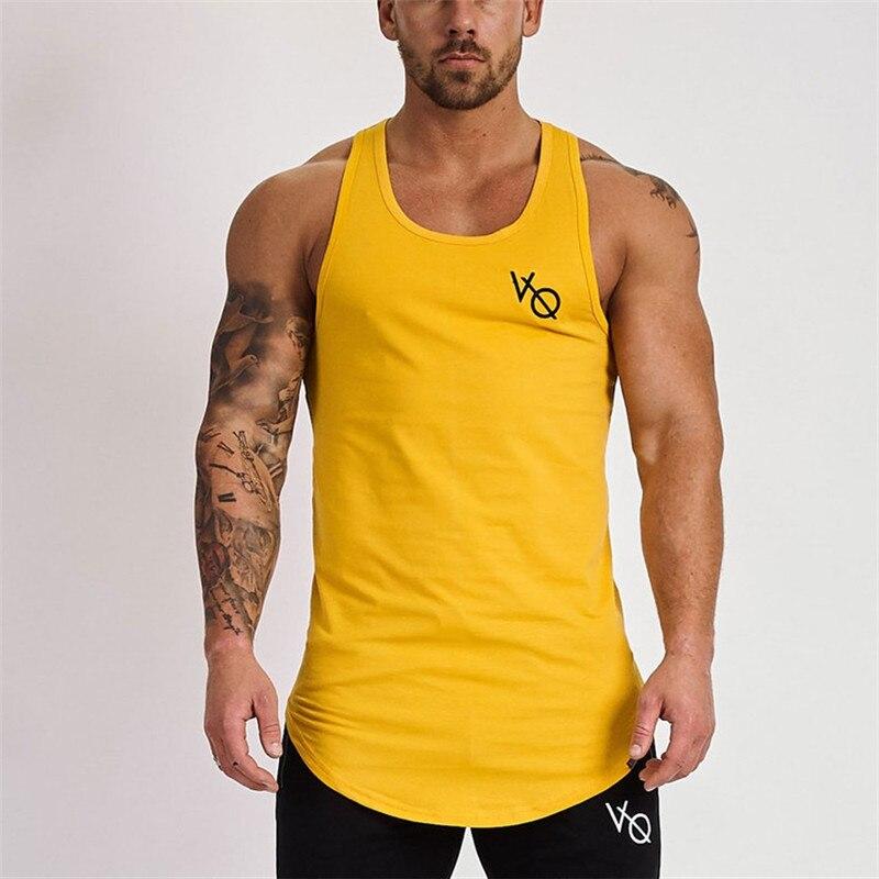 Brand mens sleeveless vest 2019 Summer men   Tank     Tops   Clothing Bodybuilding Undershirt Casual Fitness   tank     tops   tees