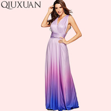 a3b522b8d20 QIUXUAN Ombre Tie Dye High Waist Maxi Dress Summer Fashion Cross Back  Sleeveless Wrap Dress Ruched