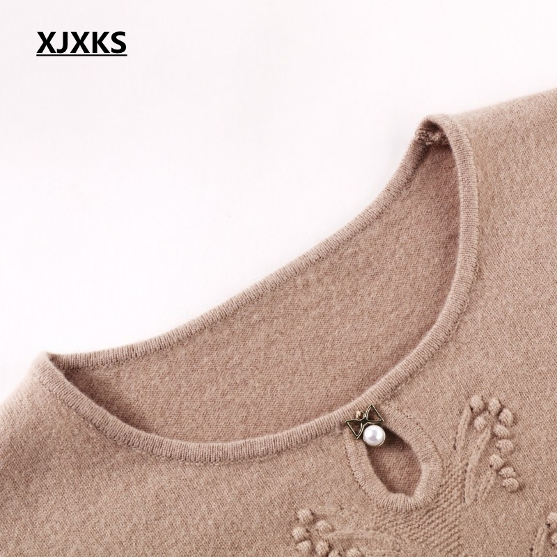 Et Pulls pink Confortable kaki Bleu 100 Laine Chandails rouge Femmes Coréenne Purple Style Tricoter Décontracté 2019 Élasticité Chandail Xjxks À Haute qYxO0FwU