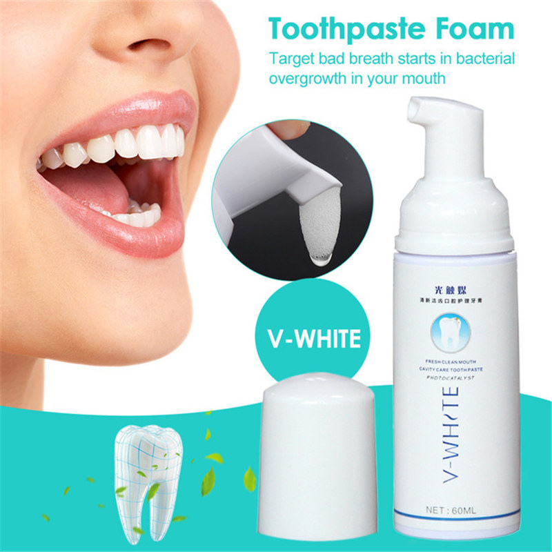 Toothpaste Foam Cleaning Whitening Tooth Mouth Wash Liquid Oral Hygiene Effective Tooth Whitening Foam in Toothpaste from Beauty Health