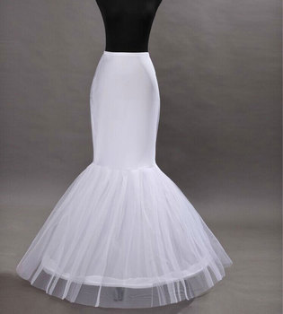 Hot Sale Cheap 2018Mermaid Wedding Petticoat Bridal Accessories Underskirt Crinoline Petticoats For Wedding Dresses Jupon