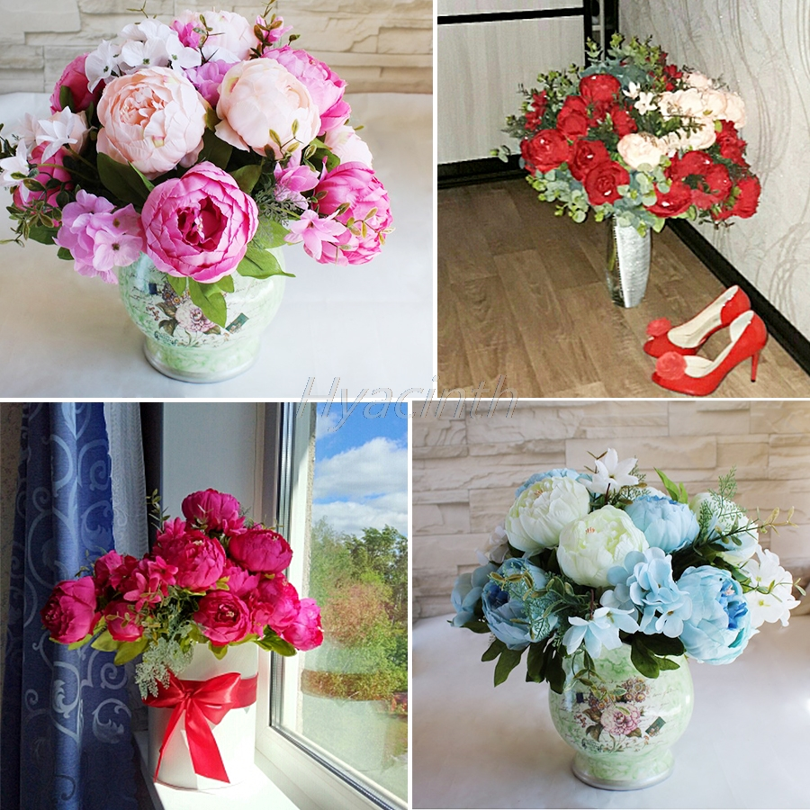Online buy wholesale artificial flower from china artificial special price hight quality silk flower european artificial flower fall vivid peony fake leaf wedding party dhlflorist Gallery