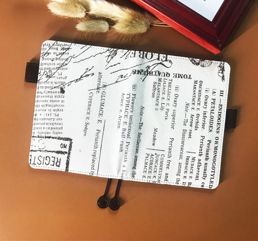 цена на The Romantic Poem Theme Cool Hobonichi Fashion Journal Cover A6 Suit For Standard A6 Fitted Paper Book Free Shipping