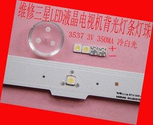 Image 1 - 200 جزء/الوحدة لإصلاح سامسونج تلفاز LCD LED الخلفية المادة مصباح مصلحة الارصاد الجوية المصابيح 3537 3535 3 فولت الباردة الأبيض صمام ثنائي باعث للضوء