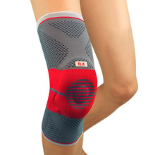 Kuangmi Compression Knee Sleeve Silicone Pad Spring Support Sports Safety Basketabll Knee Protector Breathable Sock Leg Warmers