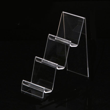 Acrylic Plexiglass Clear Tiered Riser For Wallet Purse Stand Holder Fixture Displays все цены