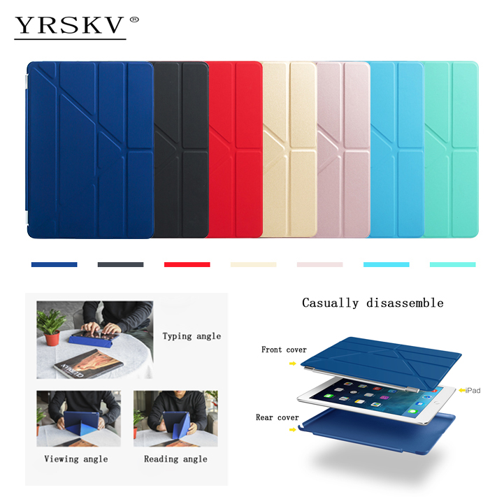 Case for ipad Air 2013 YRSKV Multi-fold PU leather Smart Sleep Wake cover+Hard PC Back Case For Apple iPad : A1474`A1475`A1476 for ipad air case dowswin pu leather smart case for ipad air cover with pc hard back stand flip case for ipad air 1 cases