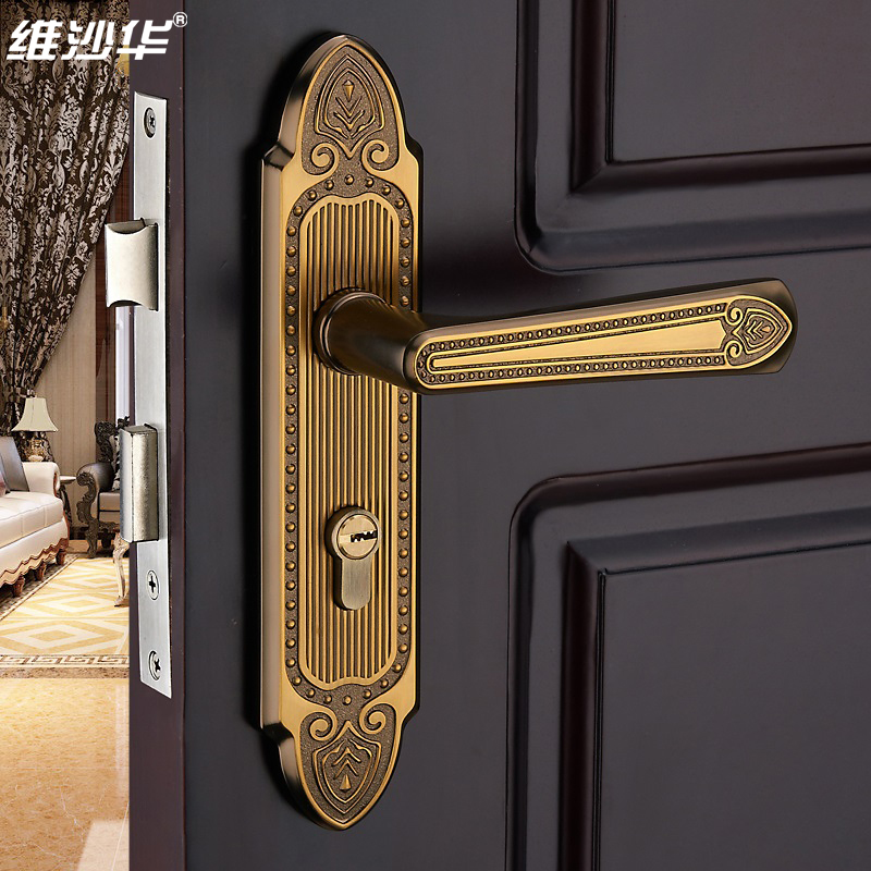 bedroom door interior locks modern european room handle lock handles