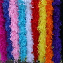 2 Meters/Lot Super Thicken Turkey Feathers Boa 80 Grams Skirt Trim Scarf/Costume/Shaw for Crafts DIY Wedding Decoration