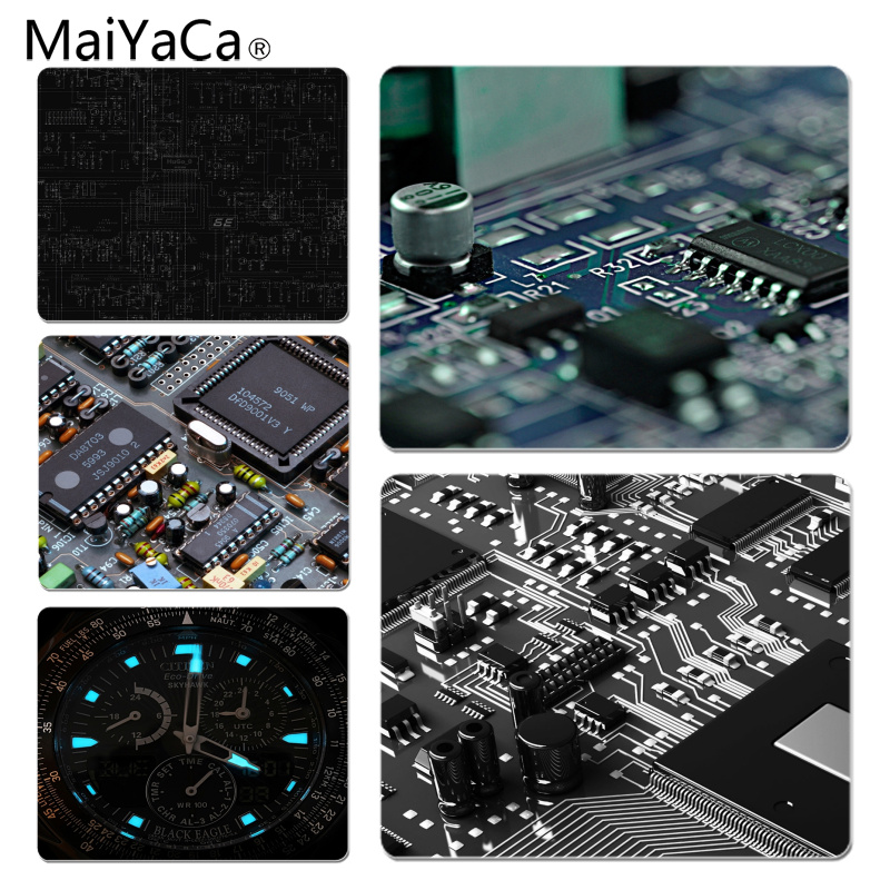 MaiYaCa Simple Design Circuits Board DIY Design Pattern Game mousepad Size for 18x22cm 25x29cm Small Mousepad