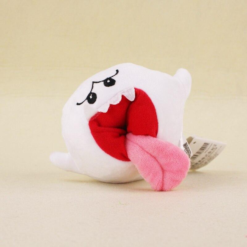 10cm Super Mario Bros Boo Ghost Plush Stuffed Dolls Mario Plush Toys Kids Gifts Toys Free