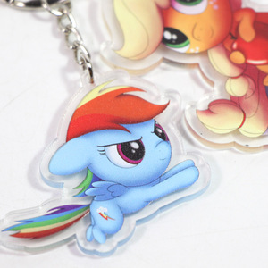 Image 5 - ใหม่ 5.5 cm My Little Pony ของเล่น Charm Twilight Sparkle Dash สายรุ้ง Fluttershy จี้ Key ผู้ถือ Pony พวงกุญแจ Party Supplies